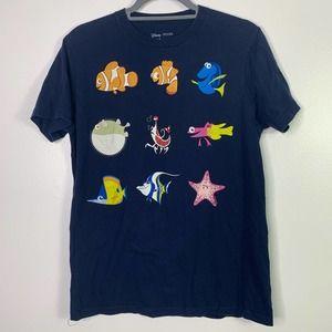DISNEY PIXAR Finding Nemo Blue Graphic T-Shirt